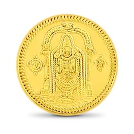 8gm, 24Kt Lord Balaji Gold Coin