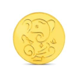 1gm, 24Kt Lucky Ganesha Gold Coin