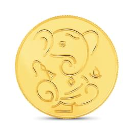 2gm, 22Kt Lucky Ganesha Gold Coin