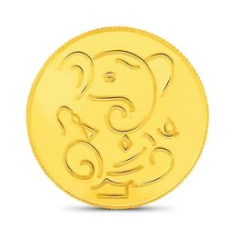 2gm, 24Kt Lucky Ganesha Gold Coin