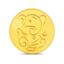 5gm, 24Kt Lucky Ganesha Gold Coin