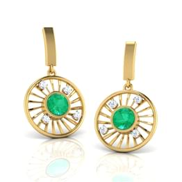 Evergreen Wheel Earrings