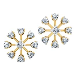 Contemporary Nine-Stone Diamond Studs.