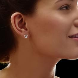 Sima  Gold Earrings in 14KT White Gold