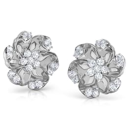 Amaryllis Platinum Earrings