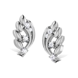 Dancing Couple Platinum Stud Earrings