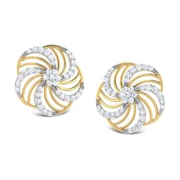 Floral Wave Stud Earrings