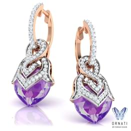 Heartthrob Amethyst Earrings