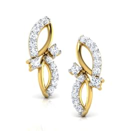 Leaf Drops Stud Earrings