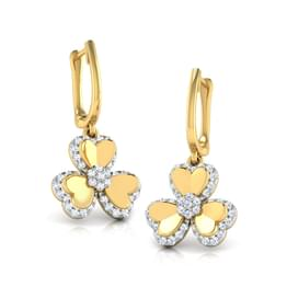 Trio Heart Petal Earrings