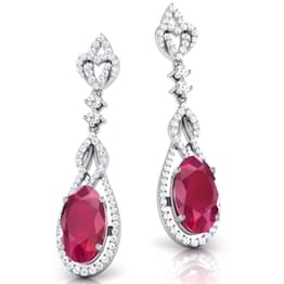Ruby Sway Drop Earrings