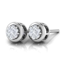 Lavani Full Moon Stud Earrings