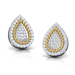 Olivia Filigree Pear Stud Earrings