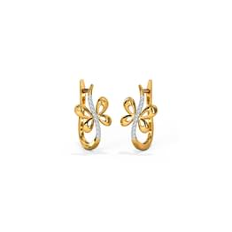 Adeal Butterfly Hoop Earrings