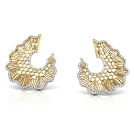 Iona Lotus Leaf Stud Earrings
