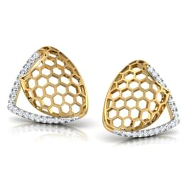 Celia Folded Stud Earrings