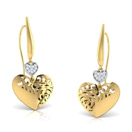 Elsa Heart Kiss Drop Earrings