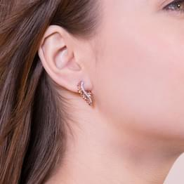 Interlap Stud Earrings