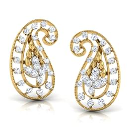 Deco Paisley Stud Earrings