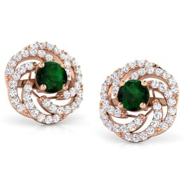 Caren Swirl Stud Earrings