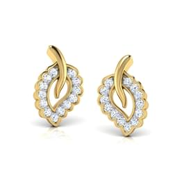 Tupelo Leaf Stud Earrings