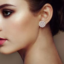 Circular Stark Stud Earrings