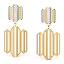 Eros Zigzag Tier Drop Earrings