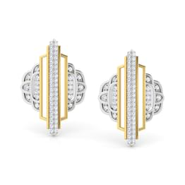Empress Ziggurat Stud Earrings