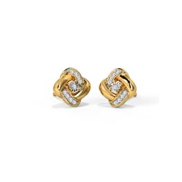 Seam Miracle Plate Stud Earrings