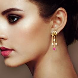 Rambagh Pond Drop Earrings