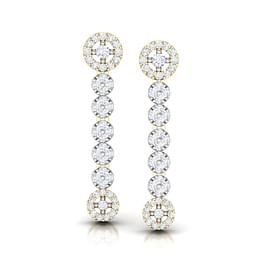 Encircle Diamond Drop Earrings