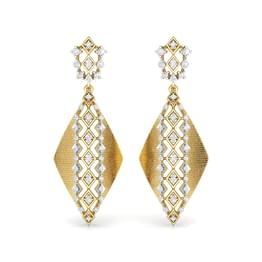 Sleek Quad Brocade Drop Earrings