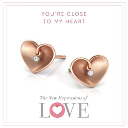 Enfold Heart Stud Earrings