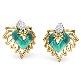 Naaz Chinar Leaf Stud Earrings