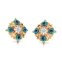Ziya Floral Stud Earrings