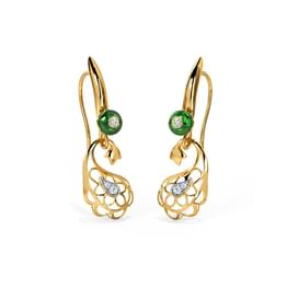 Intricate Paisley Drop Earrings