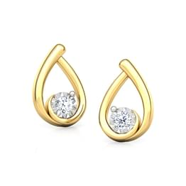Drop Miracle Plate Stud Earrings