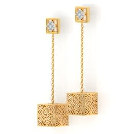Cube Cutout Drop Earrings