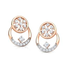 Overlay Cluster Stud Earrings