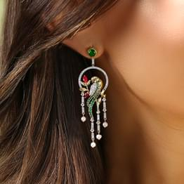 Enchanting Parrot Drop Earrings