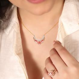 Bloom & Bud Lotus Diamond Necklace
