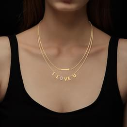 I Love U Layered Necklace