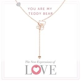 Teddy Lariat Necklace