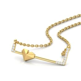 Edgy Love Bar Necklace