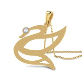 Swan cut-out Pendant