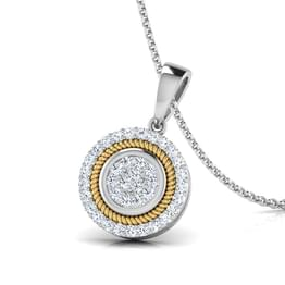 Ava Filigree Halo Pendant