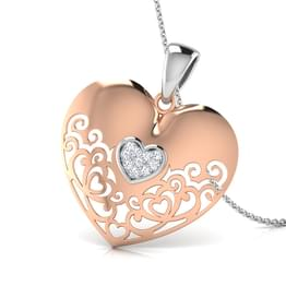 Jena Laced Heart Pendant