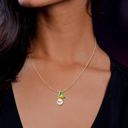 Perched Green Butterfly Pendant