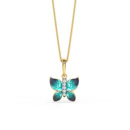 Hover Blue Butterfly Pendant