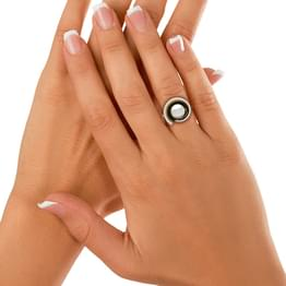 Winter Toast Pink Pearl Ring